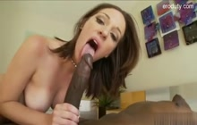 Jada Stevens hard interracial fuck and facial