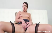 Sexy babe loves sucking a big hard cock